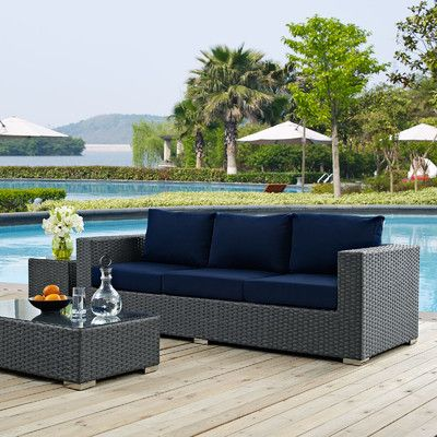 Brayden Studio Tripp Sofa with Cushions | Outdoor furniture sofa .