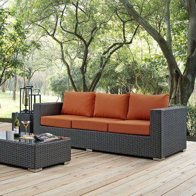 Brayden Studio Tripp Sofa with Cushions Fabric: Tuscan | Outdoor .
