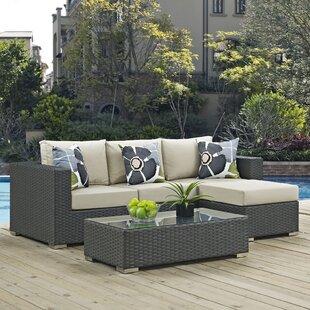 Tripp 3 Piece Sunbrella Sofa Set With Cushions by Brayden Studio .