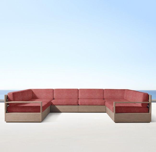 Marbella Teak Luxe Modular U-Sofa Sectional | Sectional sofa .