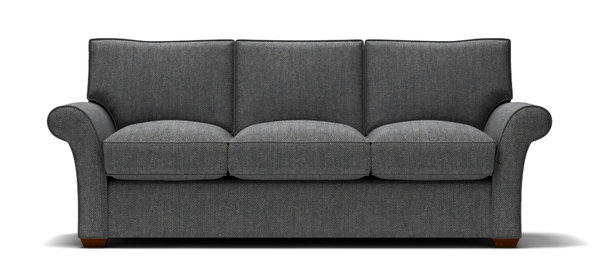 Sofa with Navy Tweed Fabric | stl-illustrator.c
