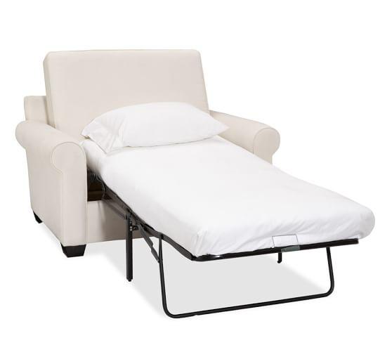 Buchanan Roll Arm Upholstered Twin Sleeper Sofa with Memory Foam .