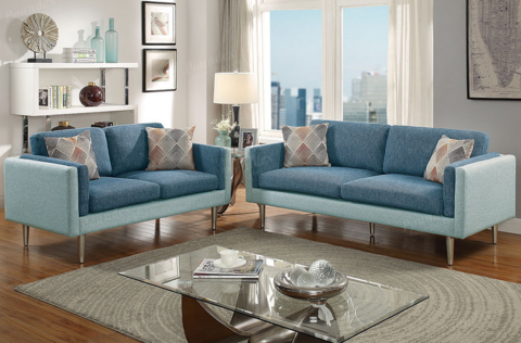 2pc Two Tone Sofa Set – My Budget Furnitu