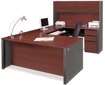 Amazon.com: Bestar U Shaped Desk W/Hutch Executive Computer Desk .