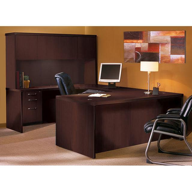 Mayline AT4 Aberdeen Executive U Shaped Desk & Hutch - Free Shippin