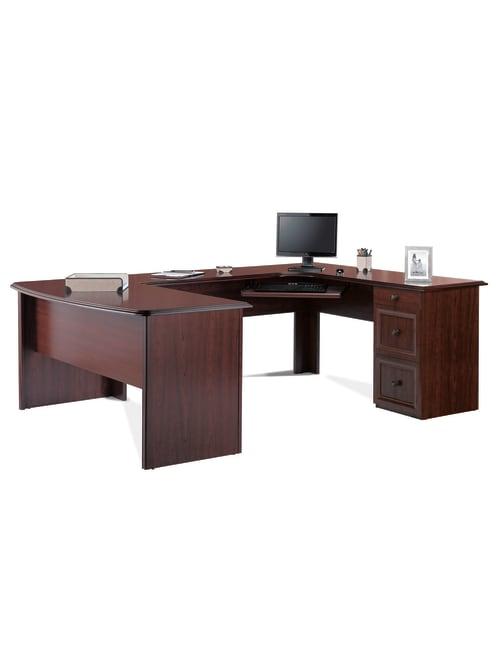 Realspace Broadstreet 65 U Desk Cherry - Office Dep