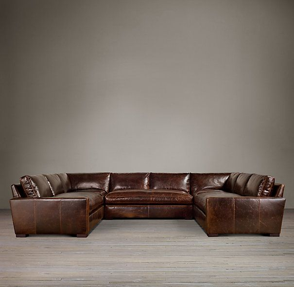 Maxwell Leather U-Sofa Sectional | Sectional sofa, U shaped .