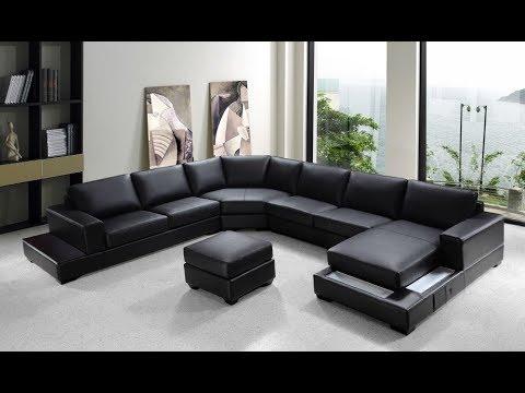 Leather U Shaped Sectional Sofa - YouTu