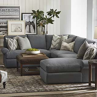 Sectional Sofas | Gray sectional living room, Brown living room .