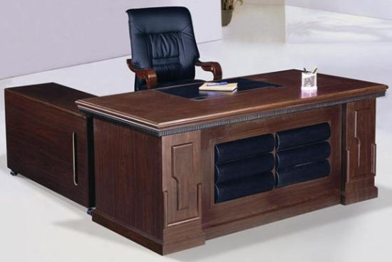 China Classical High Quality MDF Wood Unique Executive Desk .
