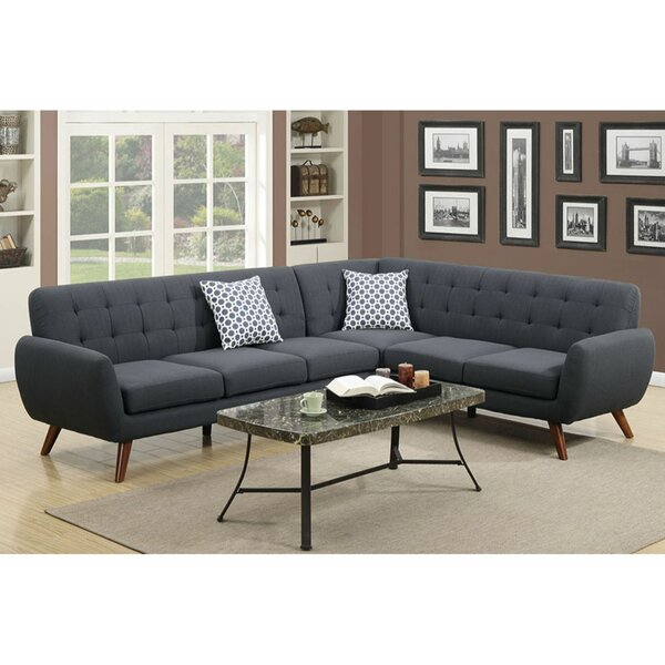 "Corrigan Studio® Rochon 76"" Right Hand Facing Sectional 