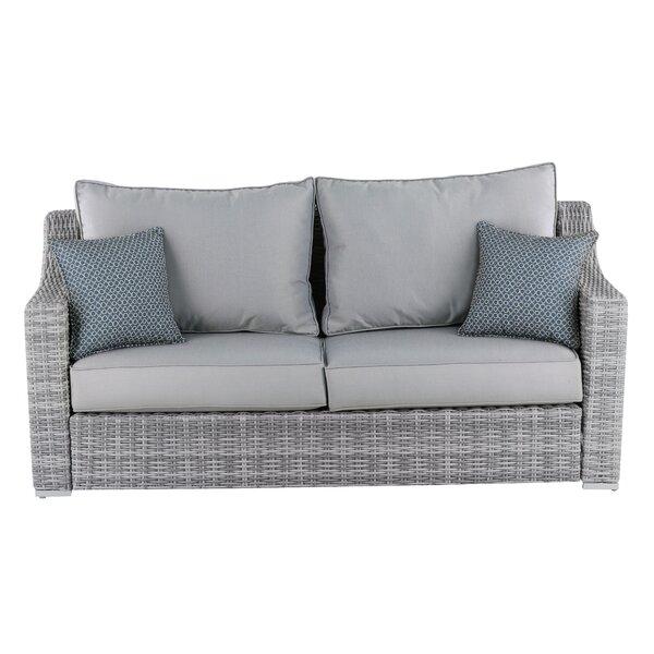 Vallauris Patio Sofa with Cushions & Reviews | AllMode