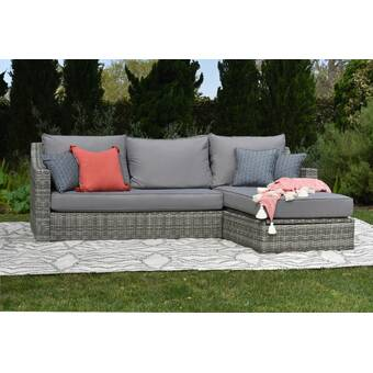 Elle Decor Vallauris Storage Patio Sectional with Cushions .