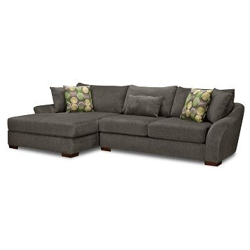 Orleans Gray Upholstery 2 Pc. Sectional | Furniture.com $1,234.99 .