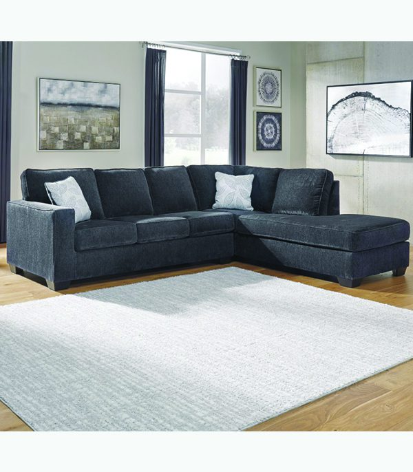 Ashley Furniture Sectional Sofa 8721317+366 in Transitional Style .