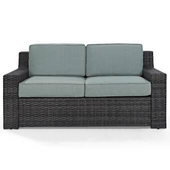 Simmerman Loveseat with Cushions & Reviews | Joss & Ma