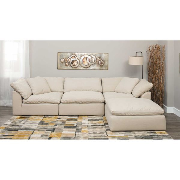 Picture of Vaughn Stone 4 Piece Sectional | Sectional sofa, Sofas .