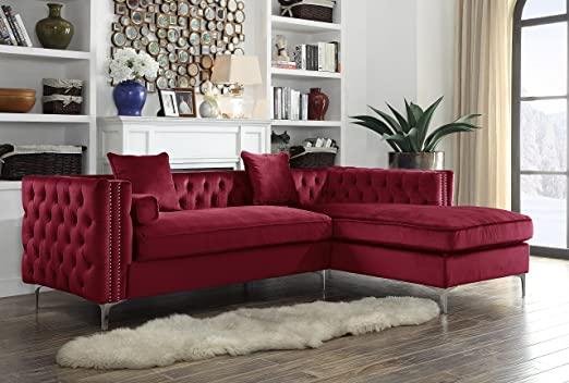 Amazon.com: Iconic Home Da Vinci Right Hand Facing Sectional Sofa .