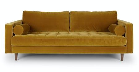 Yellow Velvet Sofas | Artic