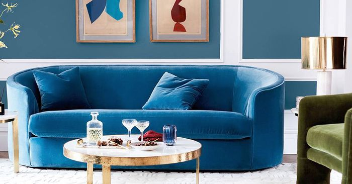 Found: The Best 12 Blue Velvet Sofas Our Editors Lo