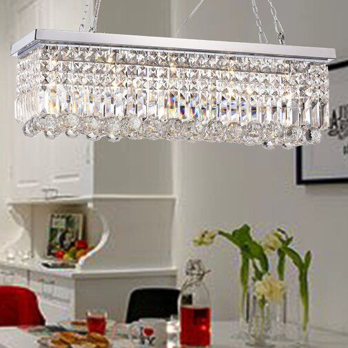 Verdell 5-Light Statement Chandelier | Crystal chandelier foyer .