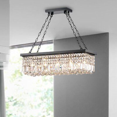 Three Posts Verdell 5-Light Crystal Chandelier | Wayfair .