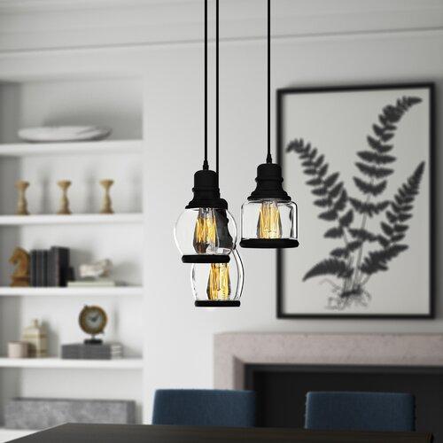Greyleigh Taft 3 - Light Cluster Bell Pendant & Reviews | Wayfa