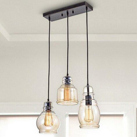 Gracie Oaks Pruett Cognac 3-Light Cluster Bell Pendant & Reviews .
