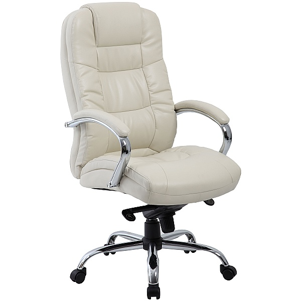 Verona Cream Executive Leather Office Chairs | Executive Office Chai