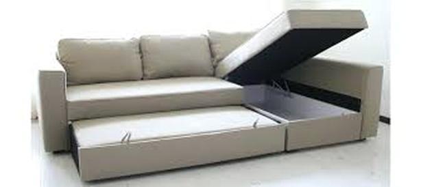 Beige IKEA MANSTAD Sectional Sofa Bed & Storage Saanich .