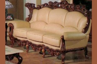 Exquisite Victorian Style Leather Sof