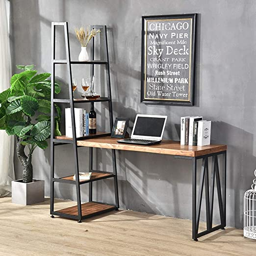 Amazon.com: Qiupei Laptop Desk for Home Office Industrial Vintage .