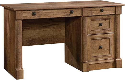 Amazon.com: Sauder Palladia Computer Desk, Vintage Oak finish .