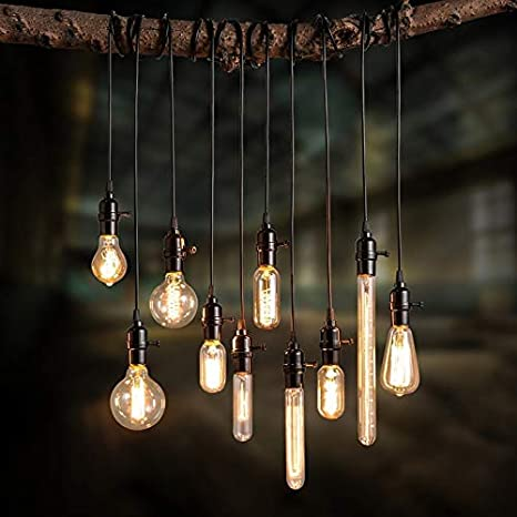 Lovedima Vintage Industrial Loft Exposed Edison Bulb Style Light .