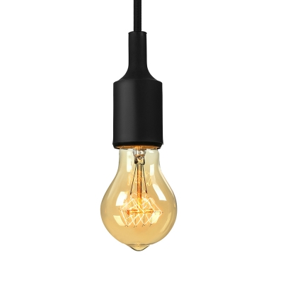Industrial Silicone Multi Color Pendant Light Vintage Edison Bulb .