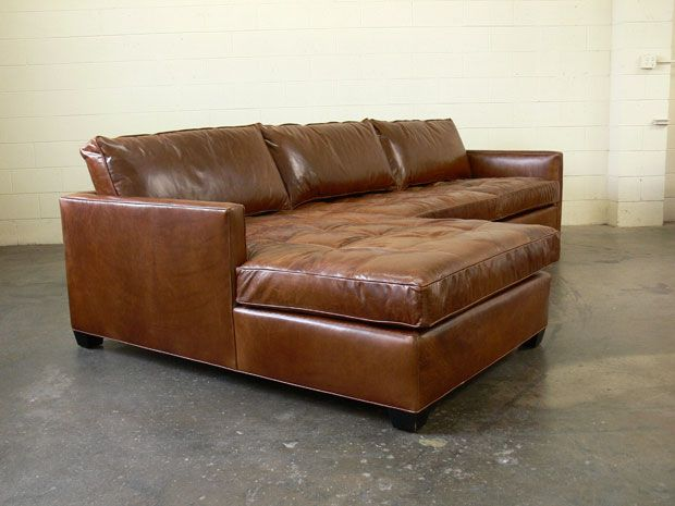 The Arizona Leather Sectional in Brompton Classic Vintage .