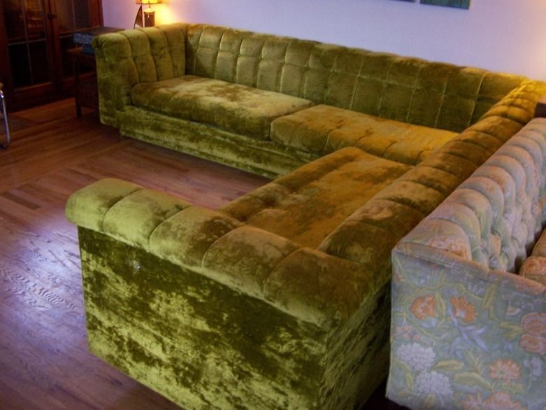 International Furniture Plush Vintage Sectional Sofa | Sectional .