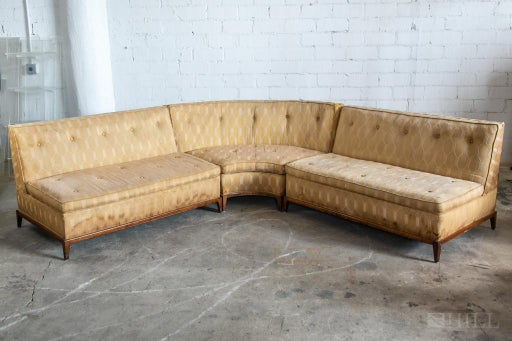 Widdicomb 3 Piece Vintage Pit Group Sectional Sofa - Apr 29, 2020 .