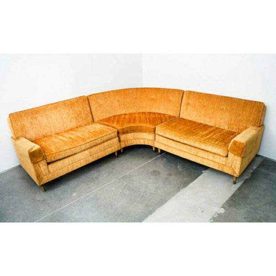 Sold!!! Mid century modern Sectional Sofa couch L shape Kroehler .
