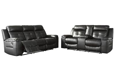 Kempten Black Recliner Sofa & Loveseat Sectional Oak Furniture .