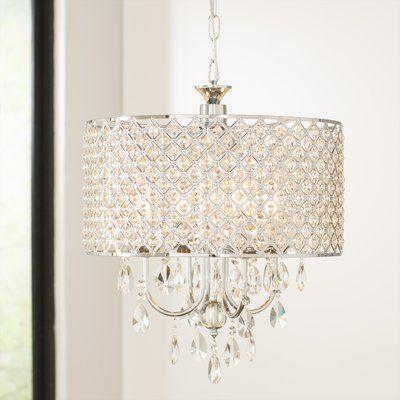 House of Hampton Von 4-Light Crystal Drum Pendant | Wayfair .