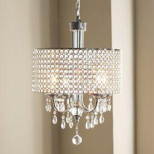 House of Hampton Von 4-Light Crystal Chandelier | Wayfair (With .