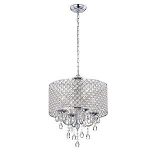 House of Hampton Von 4-Light Crystal Chandelier | Wayfair | Drum .