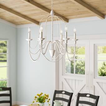 Watford 6 - Light Candle Style Classic/Traditional Chandelier .