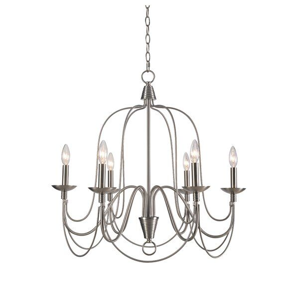 Watford 6 - Light Candle Style Classic/Traditional Chandelier in .