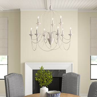 Three Posts™ Watford 9 - Light Candle Style Classic Chandelier .