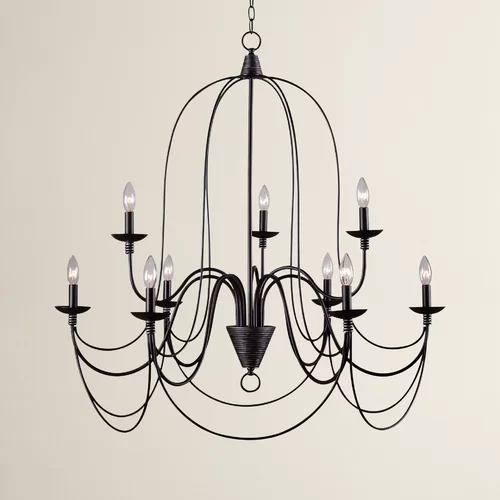 Watford 9 - Light Candle Style Classic / Traditional Chandelier .