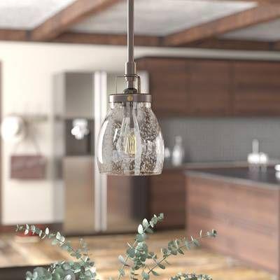 Wentzville 1-Light Single Bell Pendant | Pendant lighting .