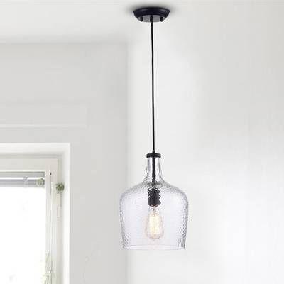 Wentzville 1 - Light Single Bell Pendant | Sink lights, Geometric .