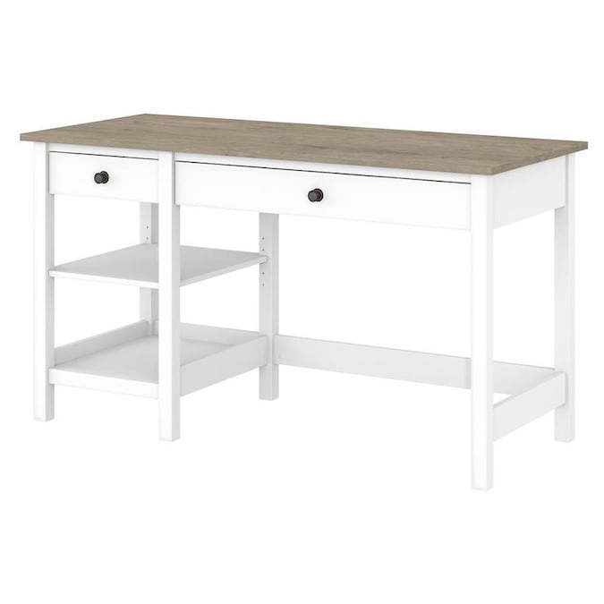 Bush Furniture Mayfield Traditional Pure White Computer Desk in .
